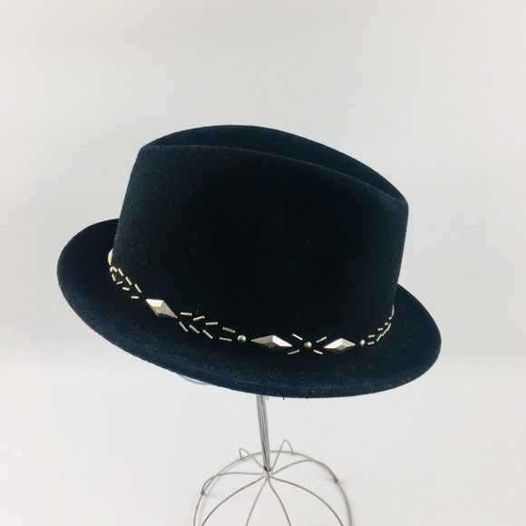 14a1adea5543a Eugenia Kim Accessories - Eugenia Kim x Stetson May Wool Felt Studded Hat